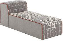 Bandas Sofa - L 155 cm by Gan White/Orange/Grey