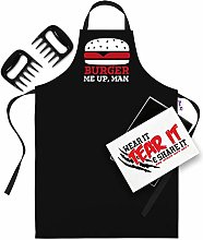 Bang Tidy Clothing BBQ Apron & Meat Shredding Bear