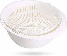 BANGSUN Drain Basket Double Layer Plastic Food