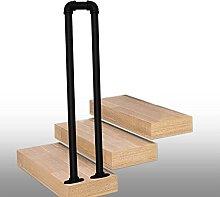 Banister Handrail for Outside Steps Black U-