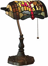 Banker Lamp Table Lamp Tiffany Style Dragonfly
