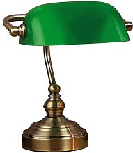 Bankers table lamp, height 25 cm green