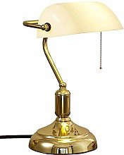 Bankers Table Lamp Traditional Desk Lamp with Pull
