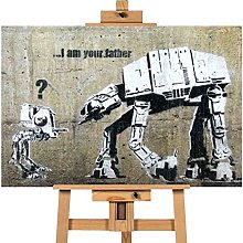 Banksy I Am Your Father Star Wars 20x30 inches |