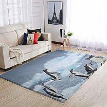 Banniyouall Animal Penguins Modern Indoor Area Rug