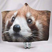 Banniyouall Animal Red Panda Hooded Blanket For