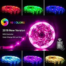 Banral LED Strips Lights 5m [Newest 2019], RGB