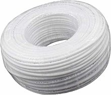 Baoblaze 100m White Plumbing Hose Fitting Hose