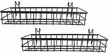 Baoblaze 2x Mesh Wall Metal Wire Basket, Grid