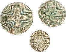 Baoblaze 3pcs/set Handmade Hanging Wall Basket