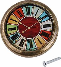 Baoblaze Antique Brass Vintage Clock Knob Cabinet
