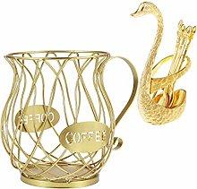Baoblaze Coffee Pod Holder Mug Cup & Spoons Kit