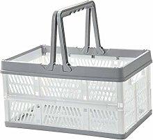 Baoblaze Collapsible Crate Basket Foldable Plastic