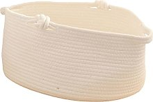 Baoblaze Cotton Rope Woven Basket with Handles