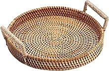 Baoblaze Premium Wicker Serving Basket Food Tea