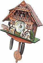 Baoblaze Wooden Cuckoo Clock Decorative Wall Clock