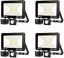 bapro 4 Pack 20W Security Lights with Motion