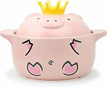 BAPYZ Cookware Pink Pig Casserole High Temperature