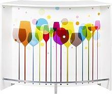 Bar Cabinet Symple Stuff Colour: White