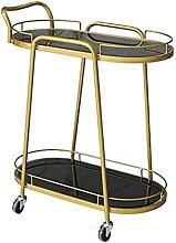 Bar cart 2 Tier Trolley Serving Cart Trolley Cart