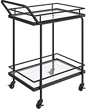 Bar cart Catering Glass Serving Trolley Metal