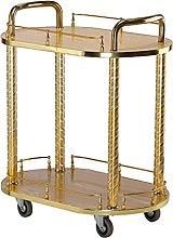 Bar Cart Drinks Serving Tea Trolley Gold Storage