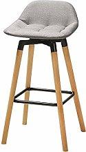 Bar Chair Bar Stool European Solid Wood Rotatable