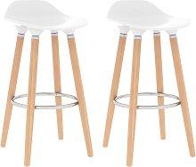Bar Chairs 2 pcs White