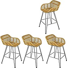 Bar Chairs High Back Counter Bar Stools With