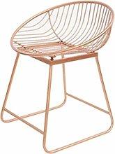 Bar Height Barstool Vintage Rose Gold Bar Chair
