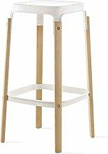 Bar High Chair Stool Bar Chair - Nordic Wooden Bar