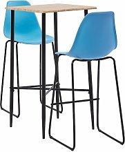 Bar Set Plastic Blue 3 Piece - Blue - Vidaxl