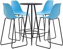 Bar Set Plastic Blue 5 Piece - Blue - Vidaxl