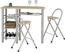 Bar Set with Wine Storage Symple Stuff