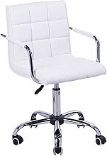 Bar Stool Armchair with Chrome Base and casters,