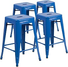 Bar Stool Blue Elephant Colour: Blue, Seat Height: