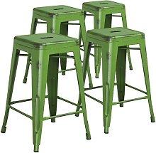 Bar Stool Blue Elephant Colour: Green/Black, Seat