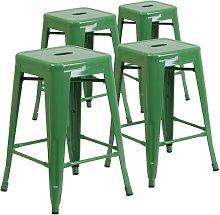 Bar Stool Blue Elephant Colour: Green, Seat