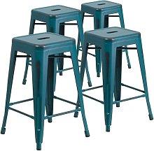 Bar Stool Blue Elephant Colour: Kelly Blue, Seat