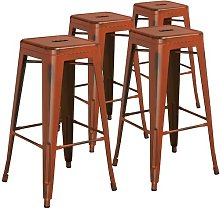 Bar Stool Blue Elephant Colour: Orange/Black, Seat