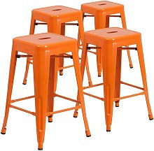 Bar Stool Blue Elephant Colour: Orange, Seat