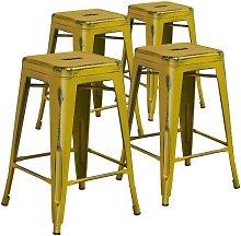 Bar Stool Blue Elephant Colour: Yellow/Black, Seat