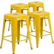 Bar Stool Blue Elephant Colour: Yellow, Seat