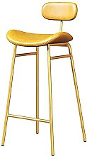Bar Stool, Round With Backrest, PU Seat, Metal