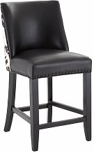 Bar Stool Union Rustic Colour (Upholstery): Black