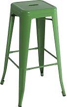 Bar Stool Williston Forge Colour: Green