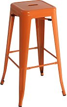 Bar Stool Williston Forge Colour: Orange