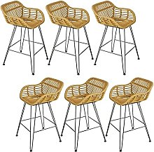 Bar Stool with Footrest & Back High Bar Stool with