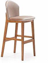 Bar stools Bar Stool Nordic Solid Wood Bar Chair