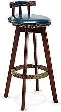 Bar stools Bar Stools Retro Pu Leather High Stool,
